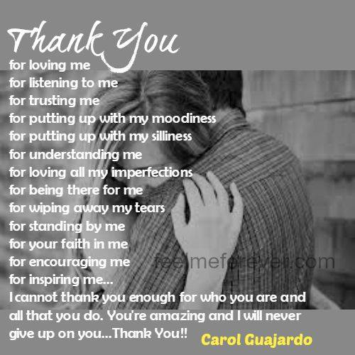 Thank You  for loving me