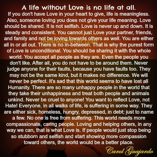 life without love essay
