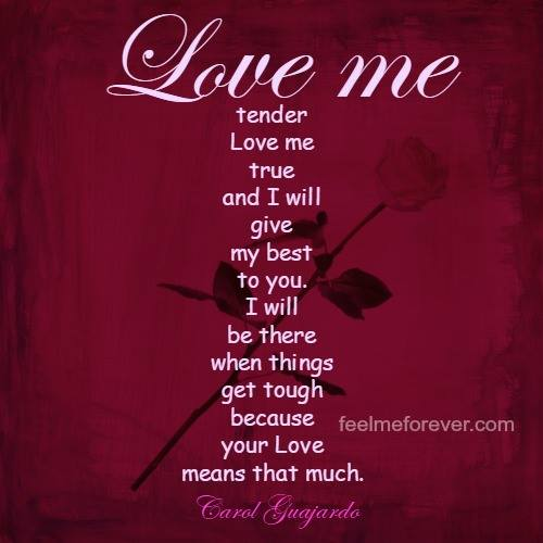 what your love means to me