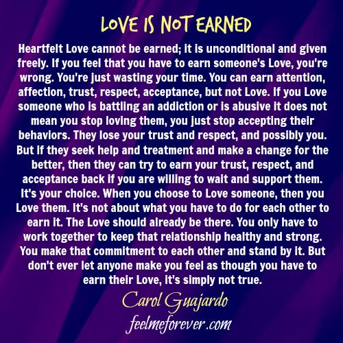 love-is-not-earned