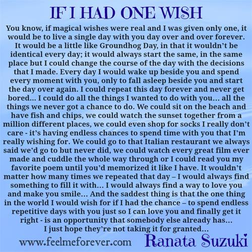 if i had one wish what would it be