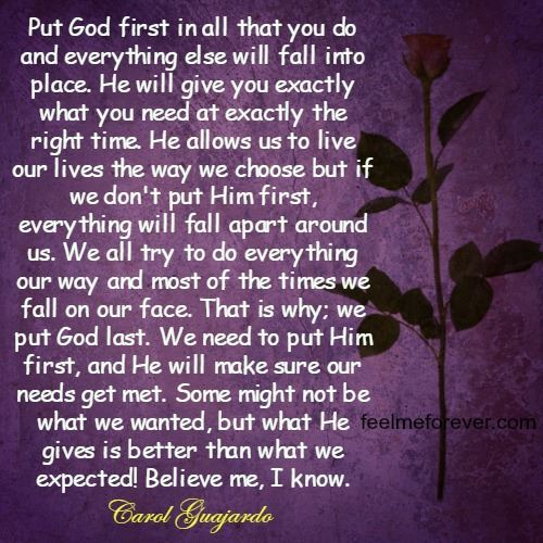 Put God first in all
